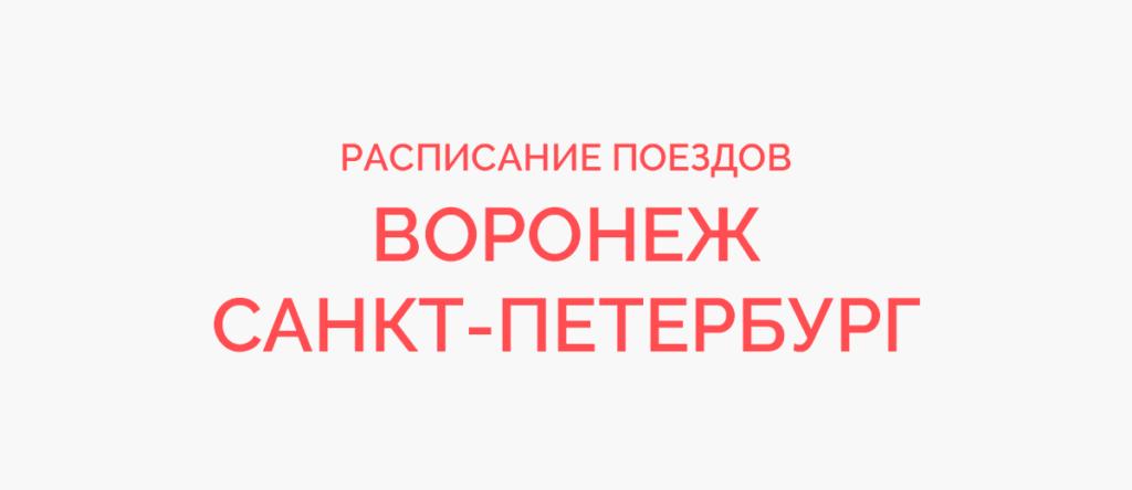 Поезд Воронеж - Санкт-Петербург